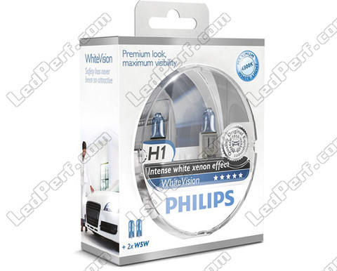 Set met 2 H1 lampen Philips WhiteVision + 2 W5W WhiteVision