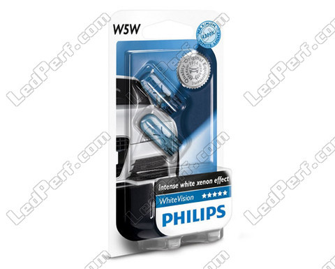lamp T10 W5W Philips WhiteVision Xenon-effect met LED