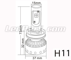 Mini ledlamp H11 Tuning