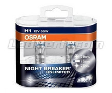 Set met 2 H1 lampen Osram Night Breaker Unlimited