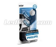 Set met 2 stadslichten Philips WhiteVision - wit - Fitting W5W