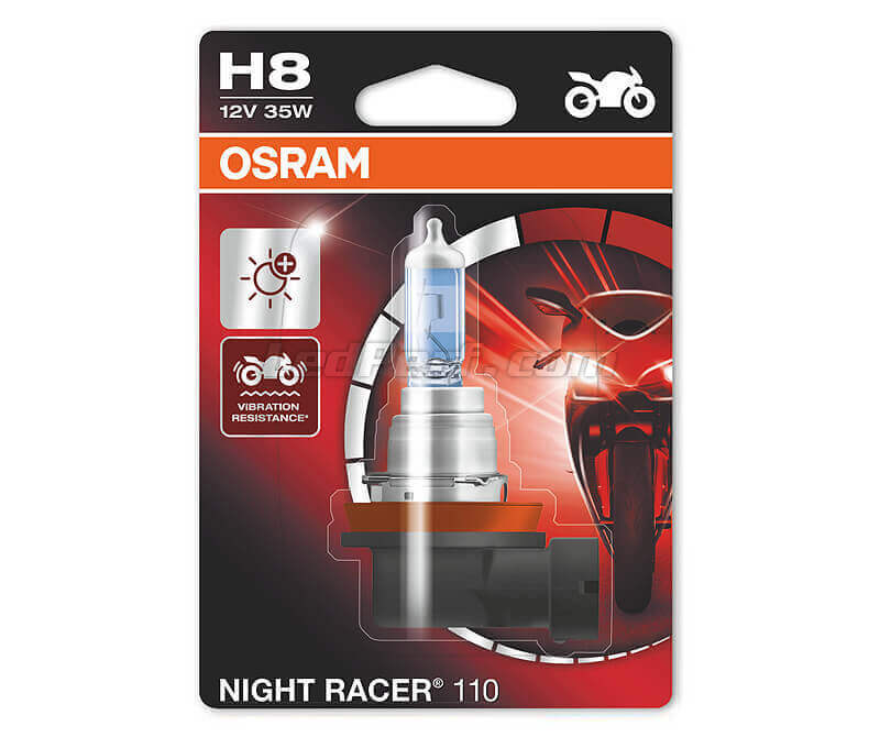 Lamp H8 Osram Night Racer 110 voor Motor - 64212NR1-01B