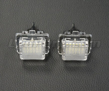 Set met 2 ledmodules nummerplaat achter Mercedes (type 4)